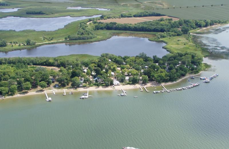 Aerial view of Eden Acres Resort.