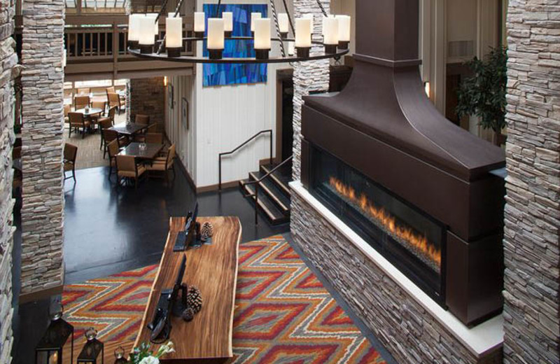 Lobby view at Quail Lodge Resort.