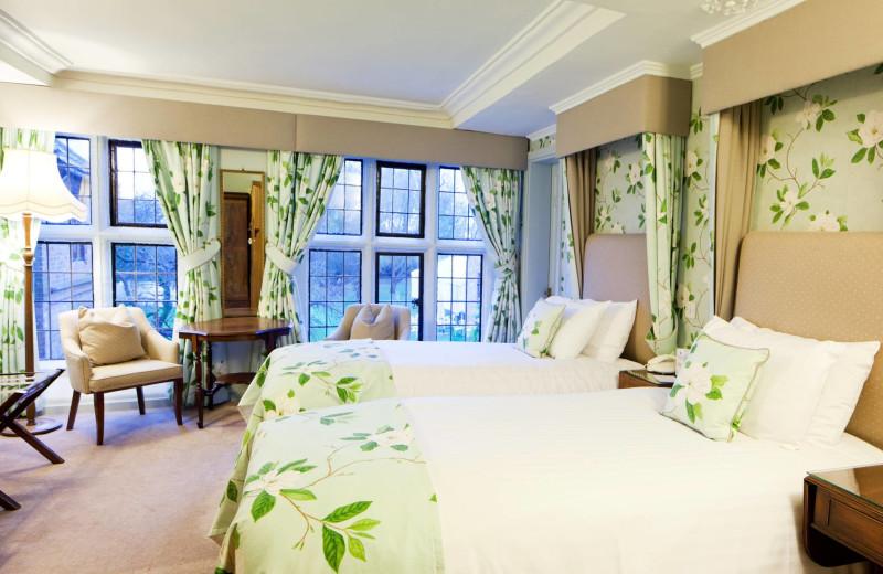 Guest room at Seckford Hall Hotel.