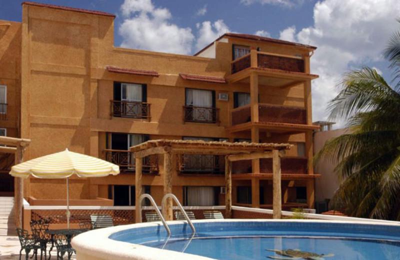 Outdoor pool at Vista del Mar Boutique Hotel.