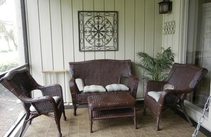 Rental patio at Seascape Resort.