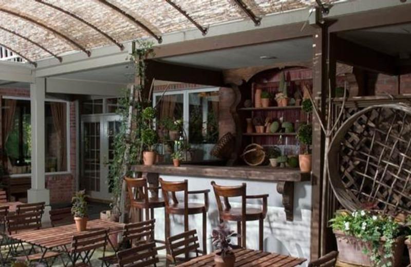 Outdoor dining at Vintage Inn.