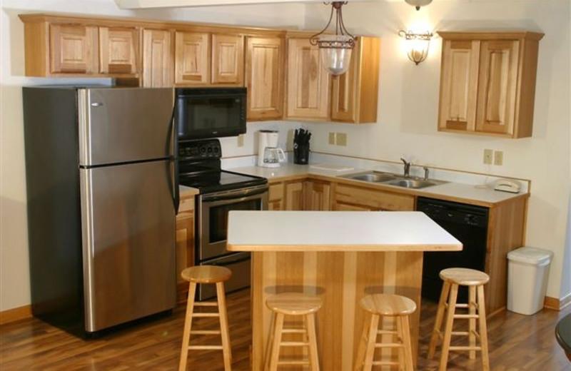 Villa kitchen at Giants Ridge Golf and Ski Resort.