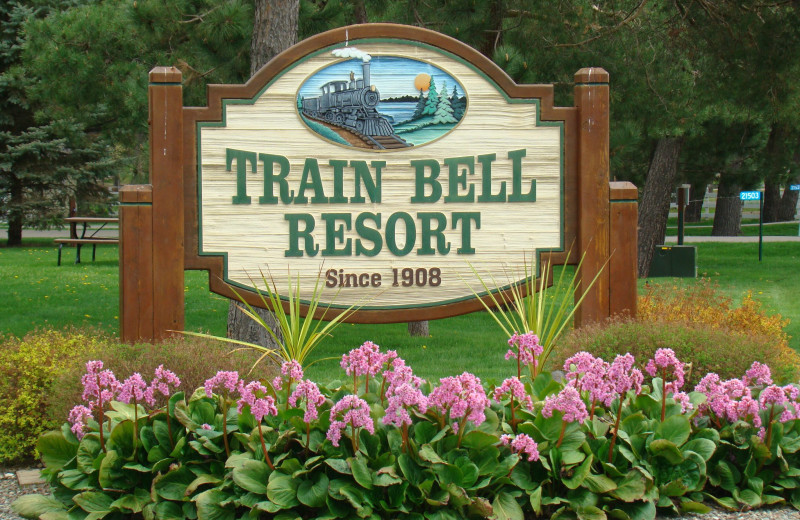 Train Bell Resort sign.