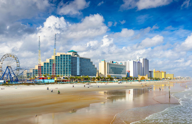 Beach at Daytona Beach Shores Hotel.