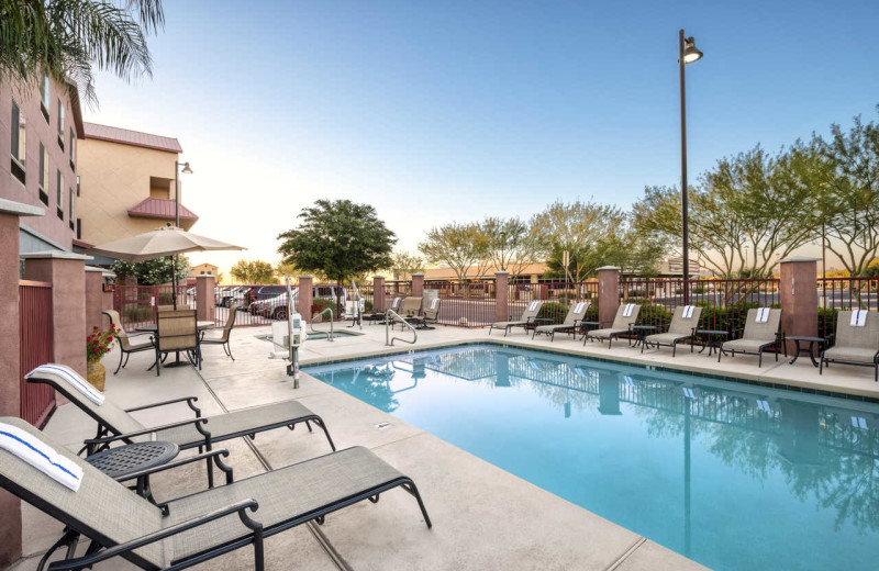 Outdoor pool at Comfort Suites Goodyear.