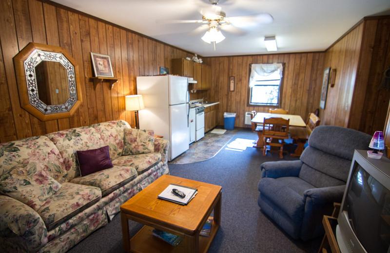 Cabin interior at Rocking Chair Resort.