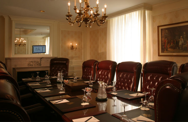 Meeting room at The Jefferson Hotel.