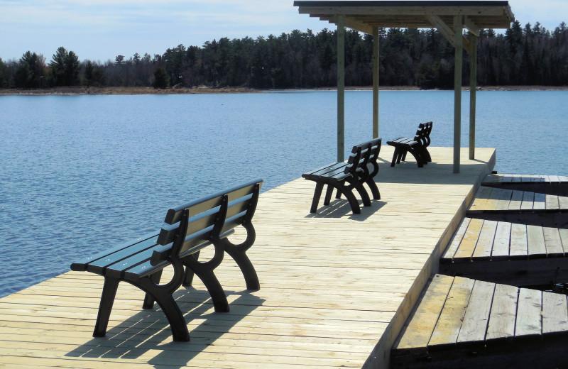 Dock at Moosehorn Resort.