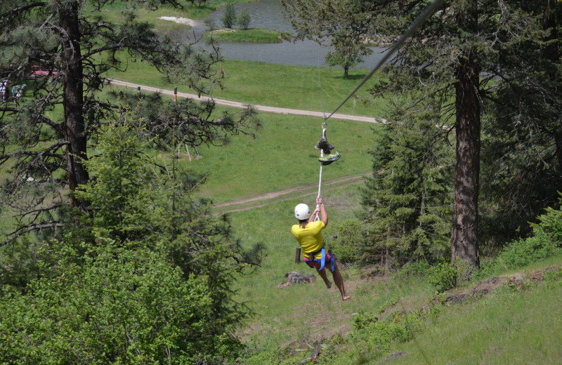 Zip line at Red Horse Mountain Ranch.