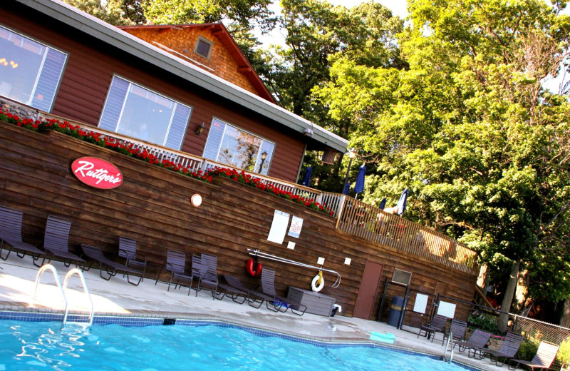 Outdoor pool at Ruttger's Bay Lake Lodge.