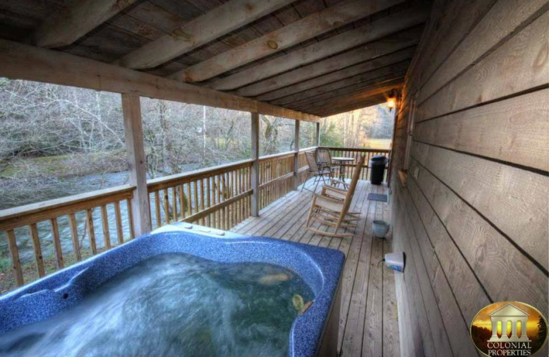 Vacation Rental Hot Tub at Colonial Properties