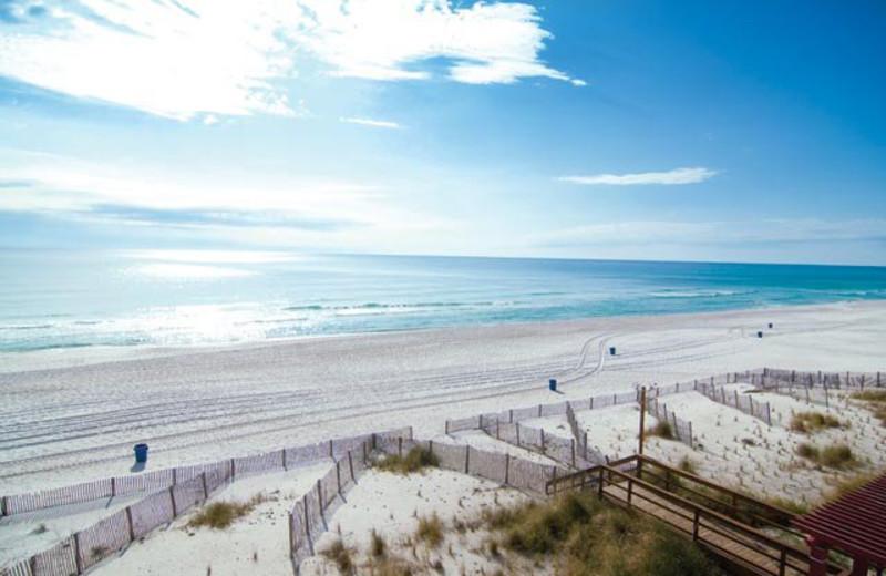 The beach at Majestic Beach Resort.