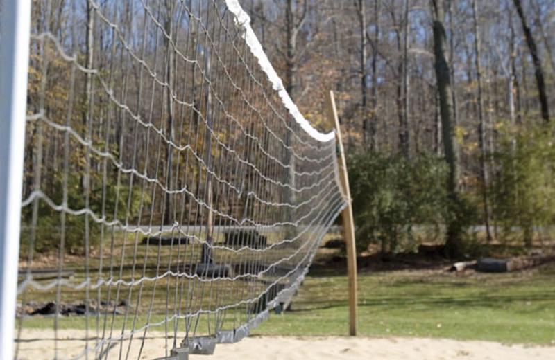 Volleyball net at Wyndham Vacation Resorts Shawnee Village.