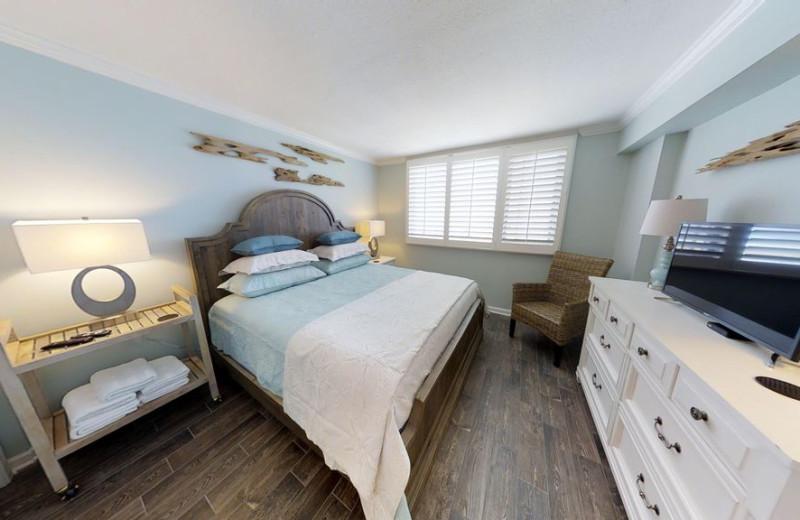 Guest bedroom at The Islander in Destin.