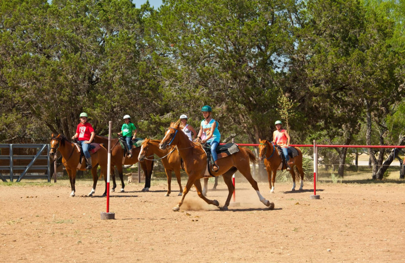 Horseback riding at Camp Balcones Spring.