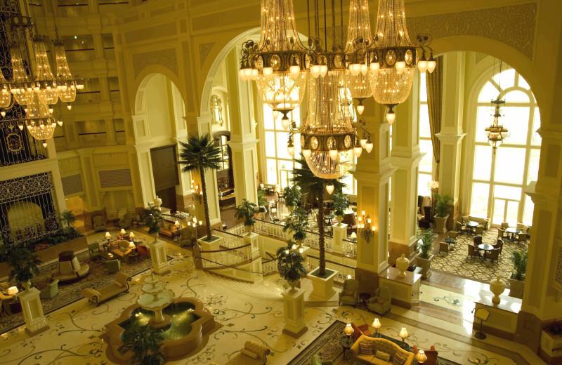Lobby at Tokyo Disneyland Hotel.