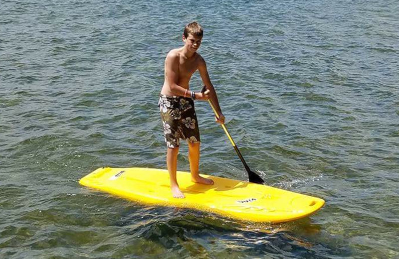 Paddle board at Rusty Moose Resort.