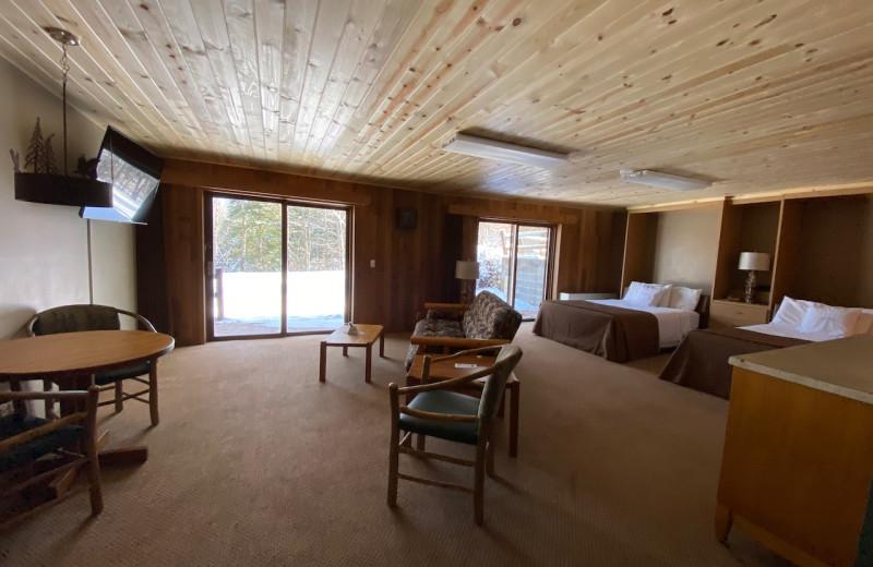 Guest room at Lakewoods Resort.