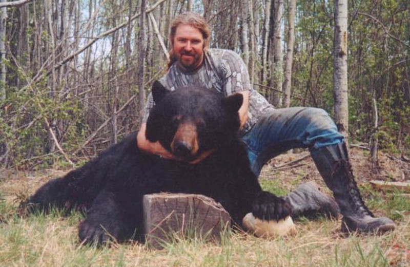 Bear hunting at Liege River Outfitting.