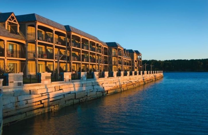 Exterior View by the Water at Harborside Hotel