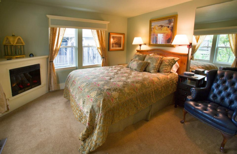 Guest room at Shrews House Bed and Breakfast.