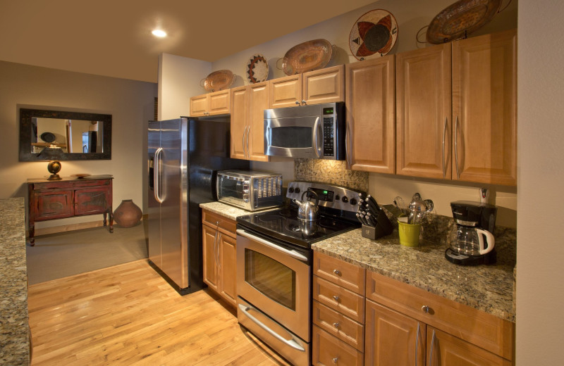 Guest kitchen at Edelweiss Lodge and Spa.