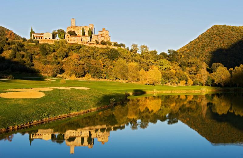 Golf course at Antognolla Castle.