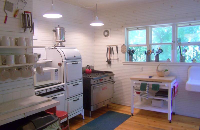 Kitchen at Khardomah Lodge.