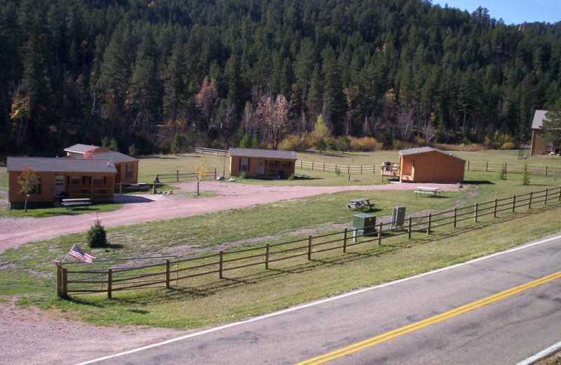 Exterior view of American Pines Cabins.