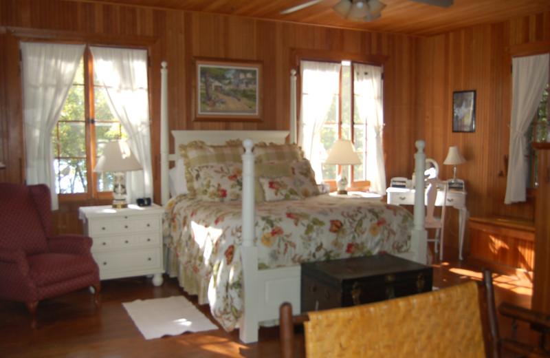 The Master Bedroom at Xanadu Island Bed & Breakfast and Resort.
