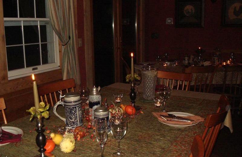 Dining at Abbotts Glen.