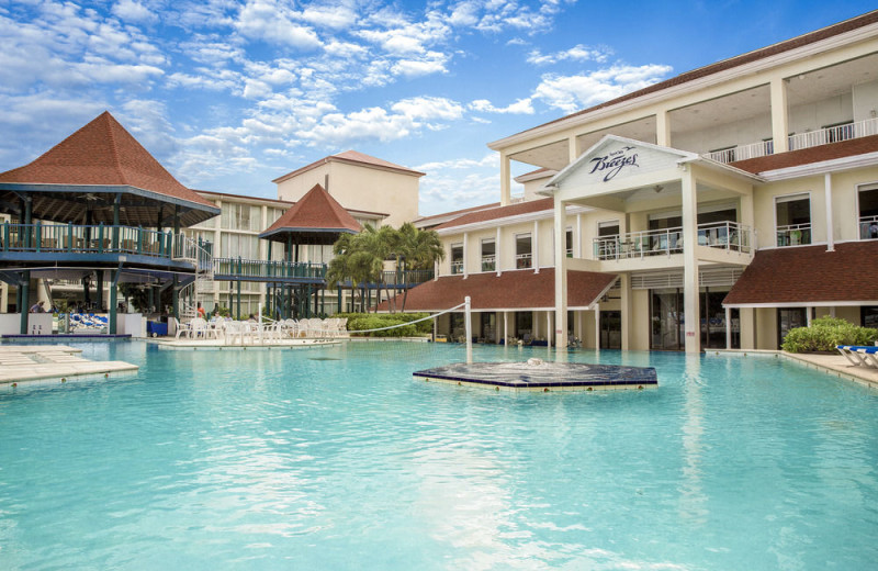 Outdoor pool at Breezes Resort Bahamas All Inclusive.