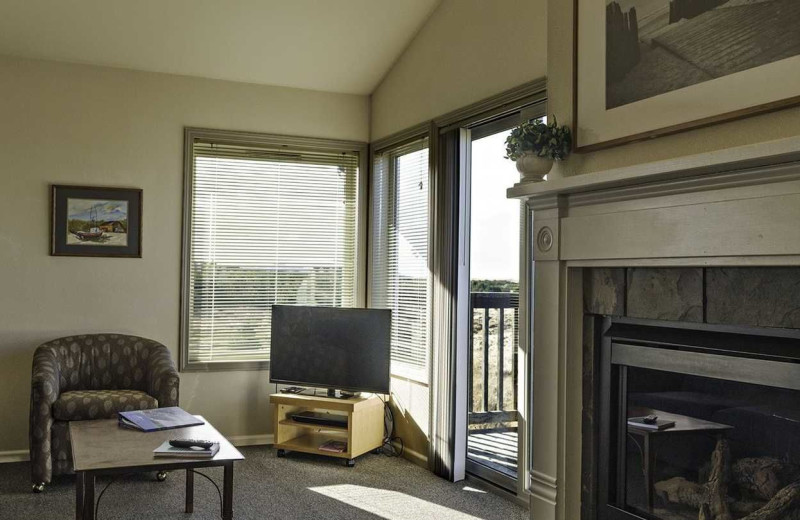 Guest living room at Lighthouse Oceanfront Resort.