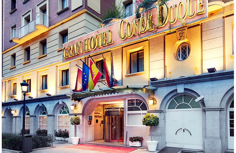 Exterior view of Gran Hotel Conde Duque.