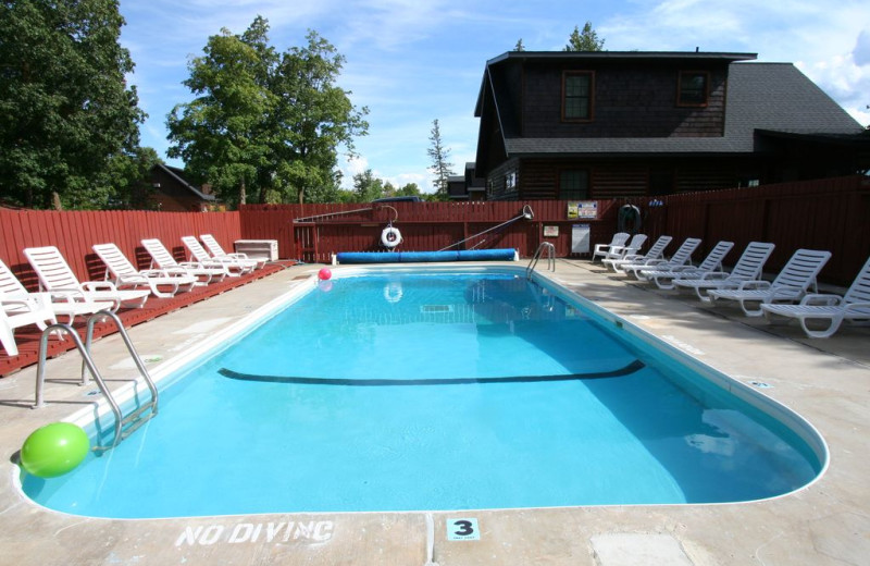 Outdoor pool at White Birch Resort.