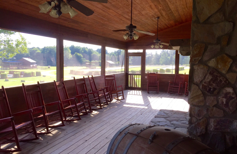 Porch at Buckhead Ranch.