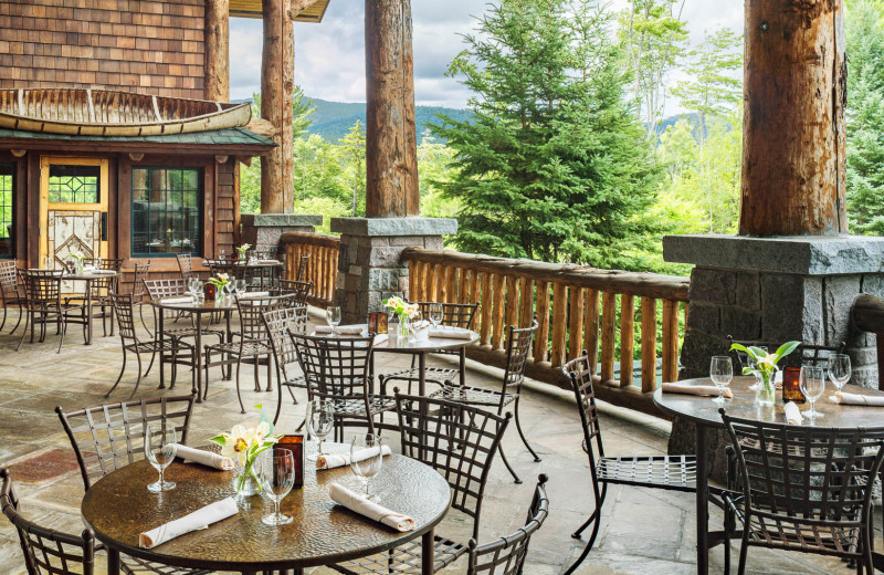 Dining at The Whiteface Lodge.