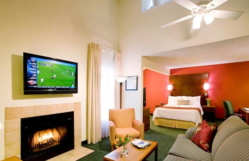 Guest room at Residence Inn by Marriott Long Beach.