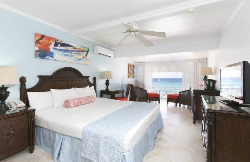 Guest room at The Club, Barbados Resort and Spa.