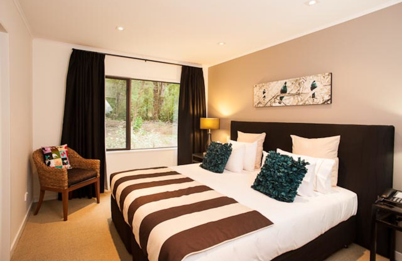 Guest room at Maruia River Lodge.