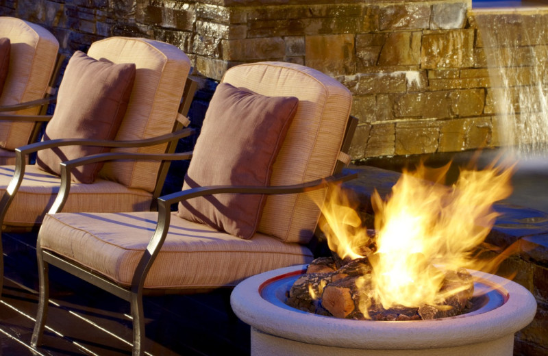 Fire Pit by Patio Furniture at The Westin Hilton