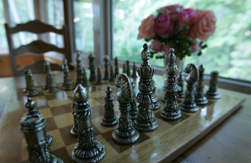 Chess board at Grand Beach Inn.