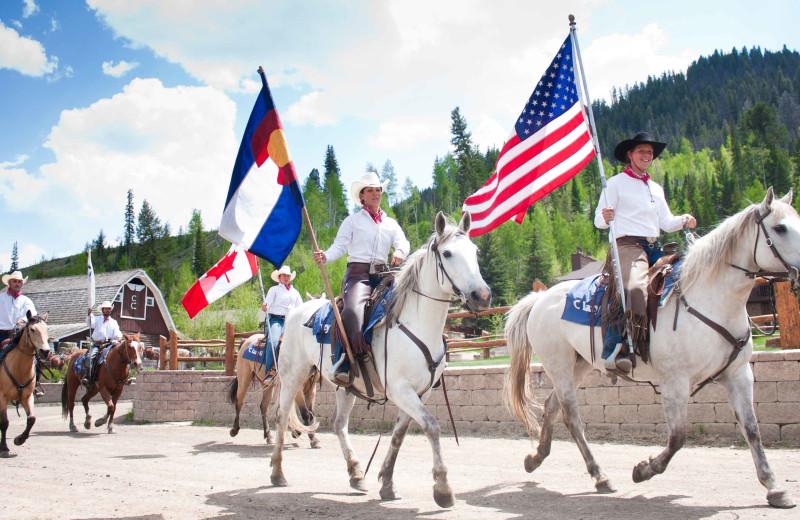 Horseback at C Lazy U Ranch.