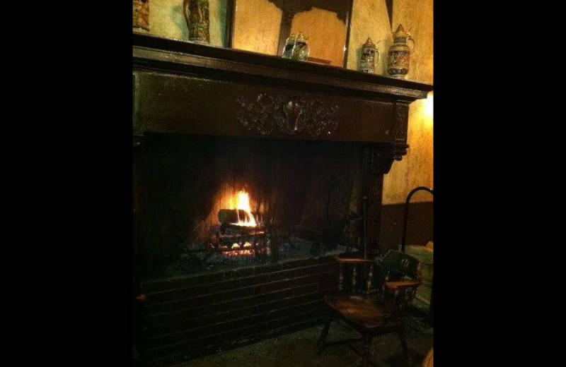 Fireplace at Penn Wells Hotel & Lodge.
