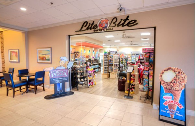 Entrance to Lite Bite Deli at Rosen Inn International.