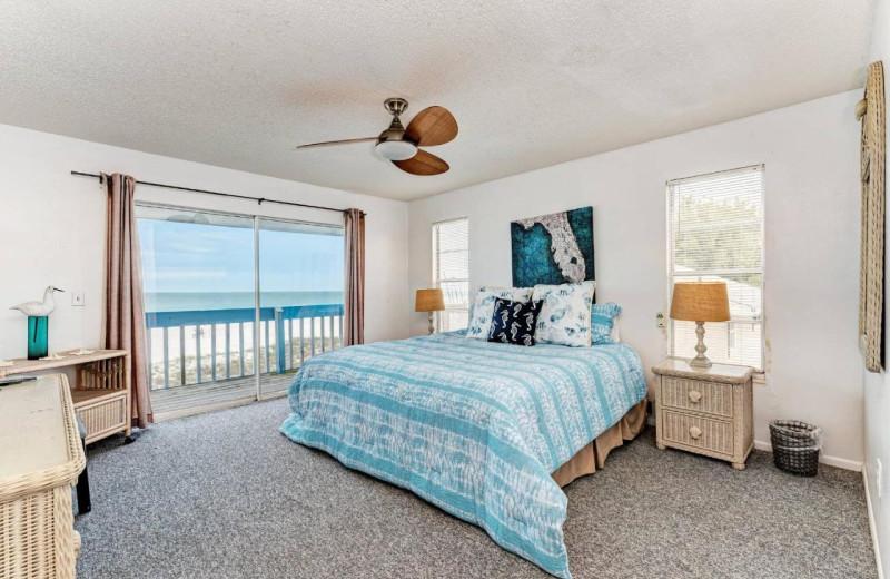 Rental bedroom at Anna Maria Island Beach Rentals, Inc.