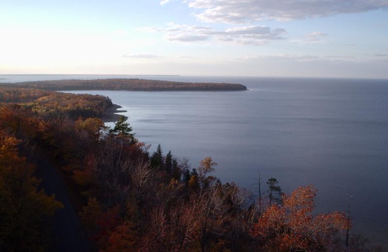 Lake view near Birchwood Lodge.