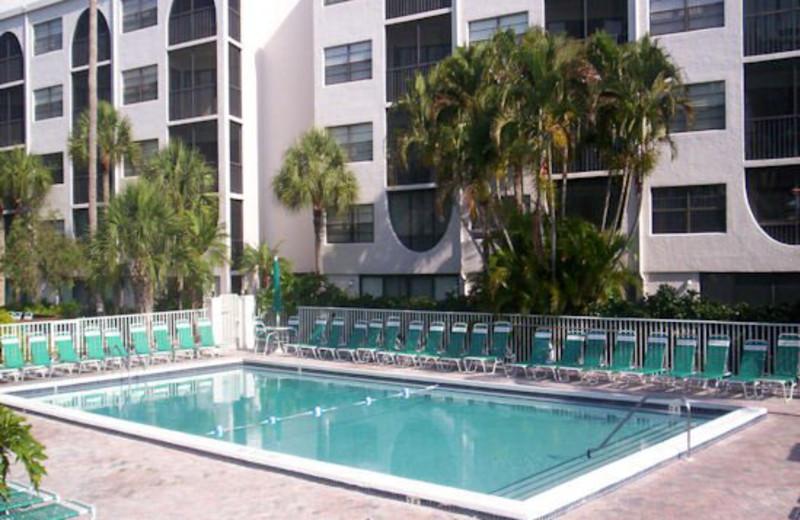 Outdoor pool at Marco Bay Resort.