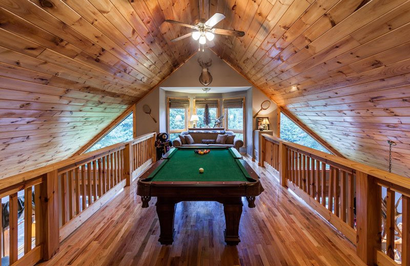 Cabin loft at Mountain Oasis Cabin Rentals.